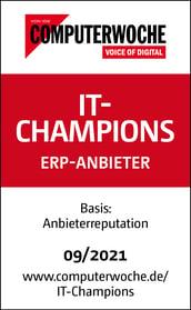 IT-Champions Siegel der Computerwoche