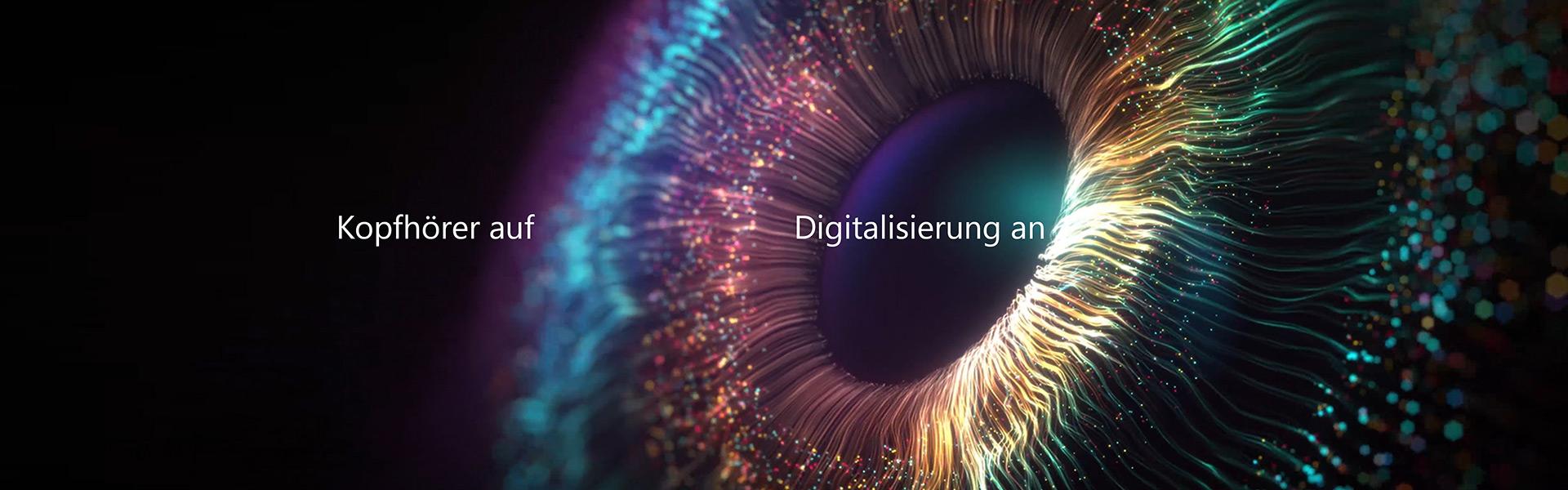 Köpfhörer auf Digitalisierung an